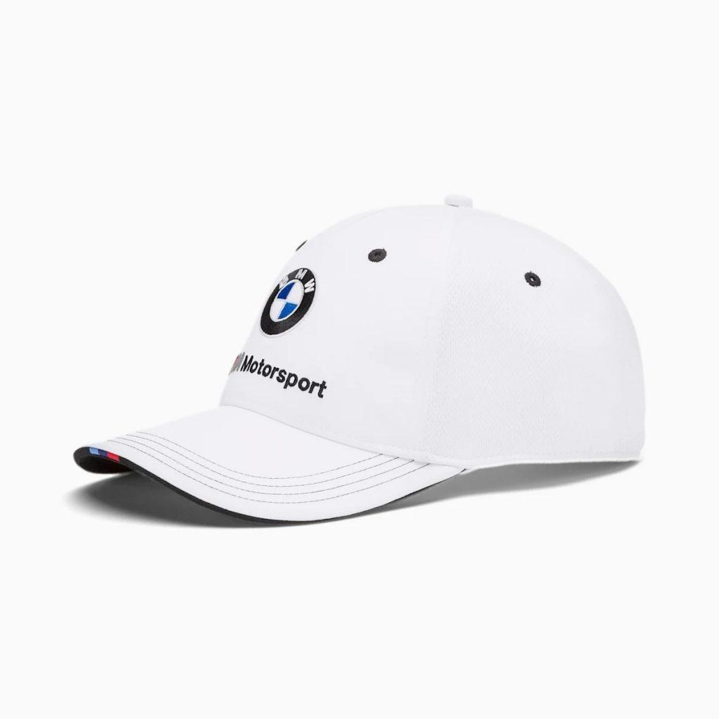 Nón BMW Chính Hãng Màu Trắng Thêu Logo